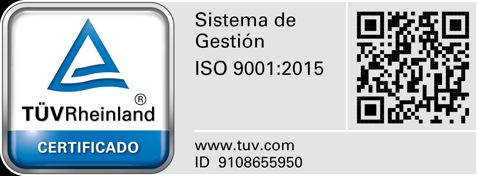 Certificado ISO 9000:2015